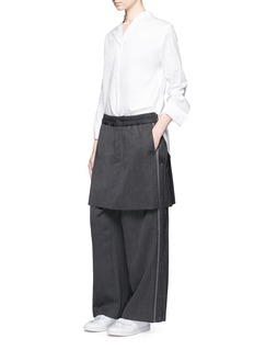 FACETASM Skirt overlay outseam placket jogging pants