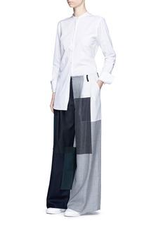 FACETASMPatchwork wool flare pants