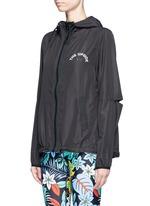 'Spliced Ash' slit panel hooded jacket