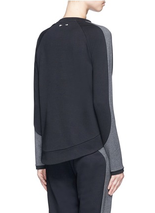 Back View - Click To Enlarge - The Upside - 'Kelela' heathered panel performance sweatshirt
