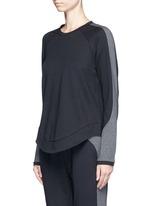 'Kelela' heathered panel performance sweatshirt