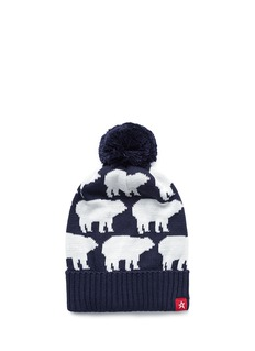 Perfect Moment 'Multi Bear' intarsia Merino wool blend pompom beanie