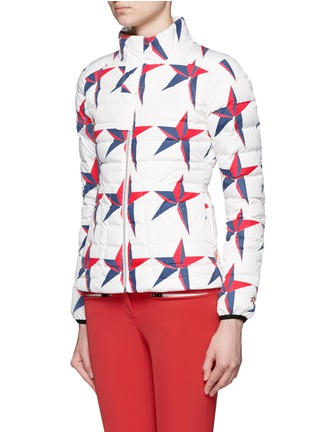 Front View - Click To Enlarge - Perfect Moment - 'Mini Duvet II' star print quilted down ski jacket