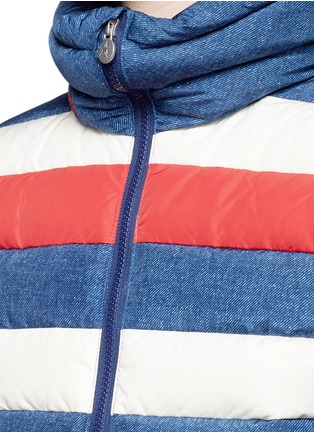 Detail View - Click To Enlarge - Perfect Moment - 'Queenie' denim print quilted down ski jacket