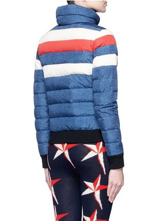 Back View - Click To Enlarge - Perfect Moment - 'Queenie' denim print quilted down ski jacket