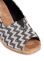 'Classic' chevron cork wedge sandals