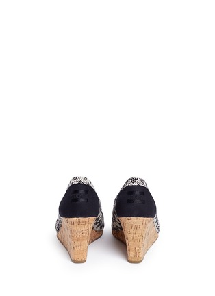 Back View - Click To Enlarge -  - 'Classic' chevron cork wedge sandals