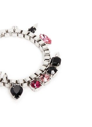 Detail View - Click To Enlarge - Joomi Lim - 'Organized Chaos' spike stud crystal chain bracelet