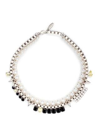Main View - Click To Enlarge - Joomi Lim - 'Organized Chaos' faux pearl chain necklace
