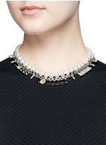 'Organized Chaos' faux pearl chain necklace