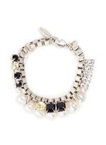 'True Innocence' faux pearl crystal chain bracelet