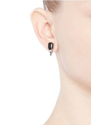 Figure View - Click To Enlarge - Joomi Lim - 'Organized Chaos' crystal stud earrings