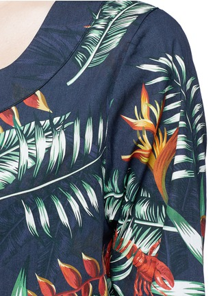 Detail View - Click To Enlarge - We Are Handsome - 'The Bazaar' tropical cotton drawstring tunic dress