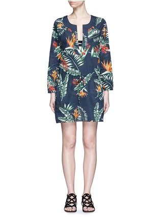 Main View - Click To Enlarge - We Are Handsome - 'The Bazaar' tropical cotton drawstring tunic dress