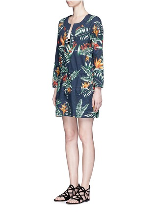 Figure View - Click To Enlarge - We Are Handsome - 'The Bazaar' tropical cotton drawstring tunic dress
