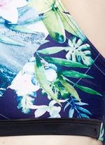 'The Dalliance' print crossback active bra