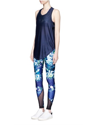 Figure View - Click To Enlarge - We Are Handsome - 'The Dalliance' print mesh trim active leggings