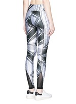 'The Siege' scenic print active leggings