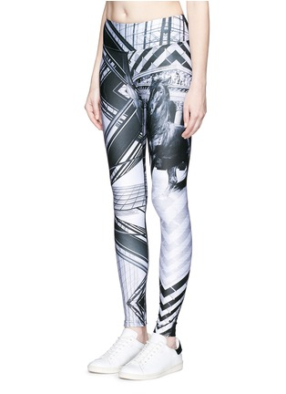 Front View - Click To Enlarge - We Are Handsome - 'The Siege' scenic print active leggings