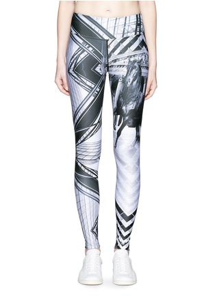 Main View - Click To Enlarge - We Are Handsome - 'The Siege' scenic print active leggings