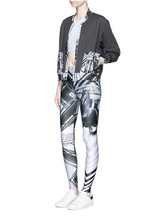 Figure View - Click To Enlarge - We Are Handsome - 'The Siege' scenic print active leggings