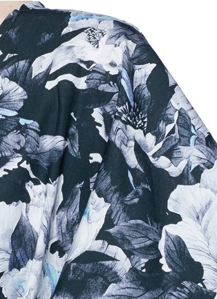Detail View - Click To Enlarge - We Are Handsome - 'The Hybrid' tie waist floral cotton maxi kaftan
