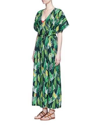 Figure View - Click To Enlarge - We Are Handsome - 'The Conspiracy' tie waist cotton maxi kaftan