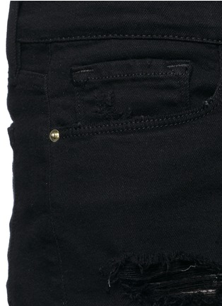 Detail View - Click To Enlarge - Frame Denim - 'Le Cut Off' distressed denim shorts