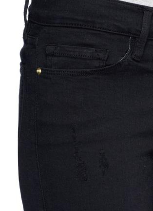 细节 - 点击放大 - FRAME DENIM - LE SKINNY DE JEANNE CROP磨破九分修身牛仔裤