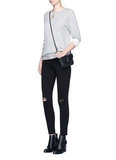 Frame Denim'Le Skinny De Jeanne' distressed cropped jeans