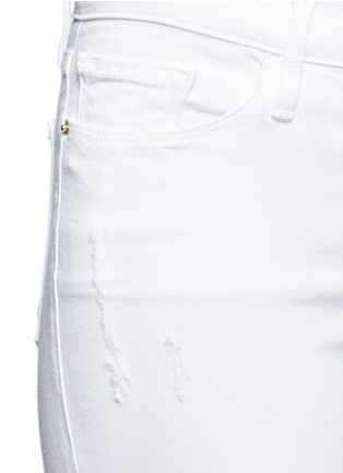 Detail View - Click To Enlarge - Frame Denim - 'Le Skinny De Jeanne' distressed cropped jeans