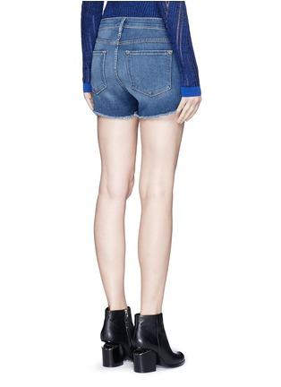 Back View - Click To Enlarge - Frame Denim - 'Le Cut Off' frayed denim shorts