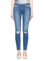 'Le High Skinny' ripped knee jeans