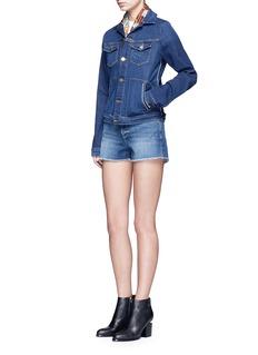FRAME DENIM'Le Jacket' cotton blend denim jacket