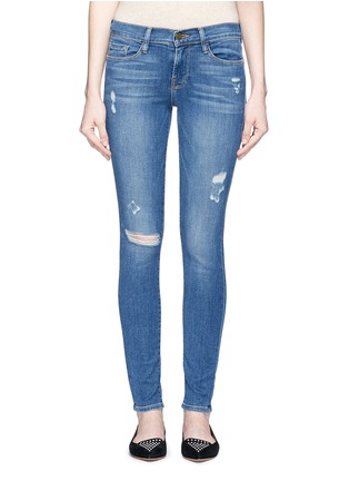 Detail View - Click To Enlarge - Frame Denim - 'Le Skinny de Jeanne' distressed jeans