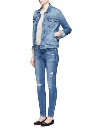 Figure View - Click To Enlarge - Frame Denim - 'Le Skinny de Jeanne' distressed jeans
