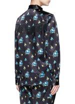 Fringed flower print shirt