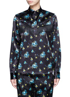 TOGA ARCHIVES Fringed flower print shirt