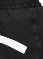 'All Eyes On Me' print drop crotch sweatpants