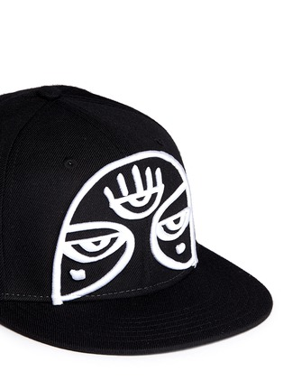 Detail View - Click To Enlarge - Haculla - 'Minds Eye' embroidery appliqué snapback cap