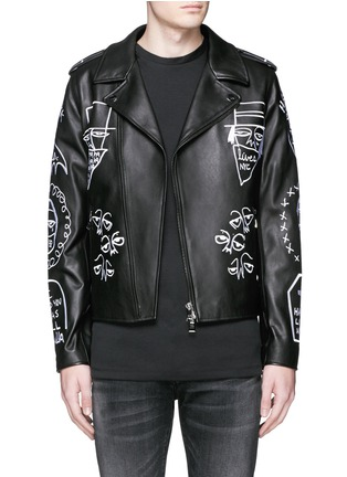 Main View - Click To Enlarge - Haculla - 'NYC Tribe' leather biker jacket