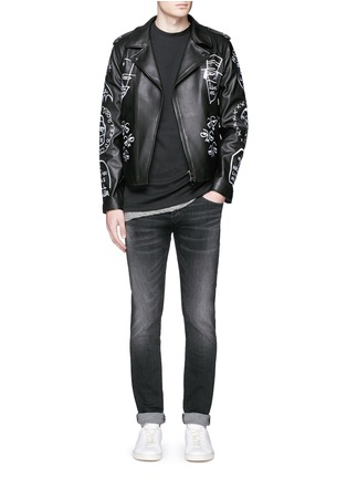 Figure View - Click To Enlarge - Haculla - 'NYC Tribe' leather biker jacket