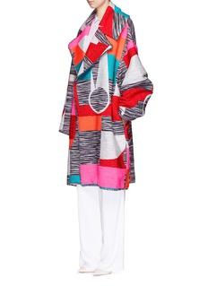 ROKSANDAMarled mix tapestry jacquard oversize coat