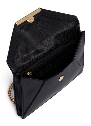 Detail View - Click To Enlarge - Michael Kors - 'Lana' envelope leather clutch