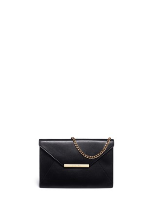 Main View - Click To Enlarge - Michael Kors - 'Lana' envelope leather clutch