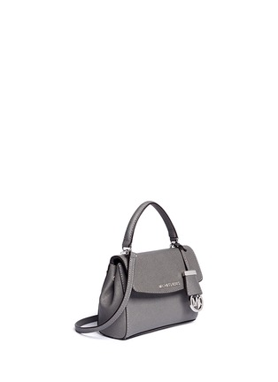 Front View - Click To Enlarge - Michael Kors - 'Ava' petite saffiano leather crossbody bag