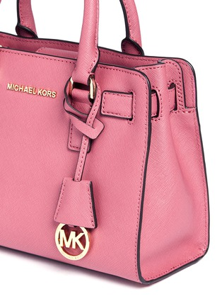 Detail View - Click To Enlarge - Michael Kors - 'Dillon' small saffiano leather satchel