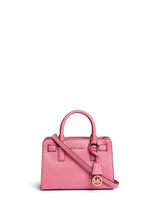 Main View - Click To Enlarge - Michael Kors - 'Dillon' small saffiano leather satchel