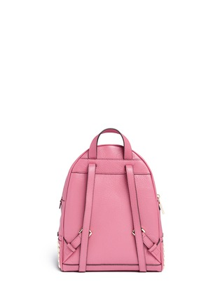 Back View - Click To Enlarge - Michael Kors - 'Rhea' small stud leather backpack