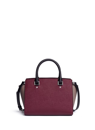Back View - Click To Enlarge - Michael Kors - 'Selma' medium saffiano leather satchel